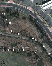 Satellite image of the pond site, showing area where the planthopper was released