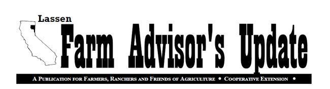 Lassen Farm Advisor's Update newsletter header