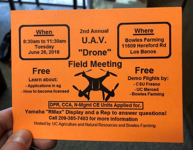 2018 Merced County UAV Flier