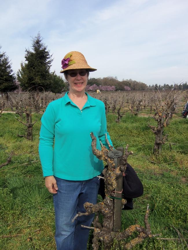 Karen and her vine.