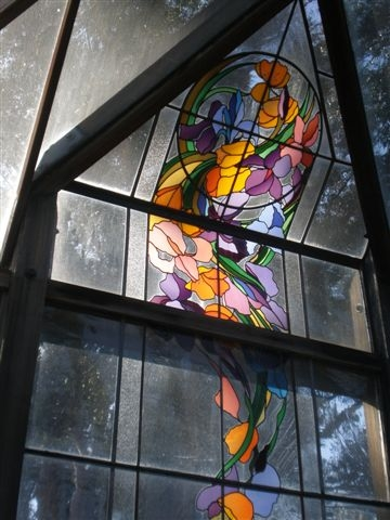 Stained glass. (photos by Sharon Rico)