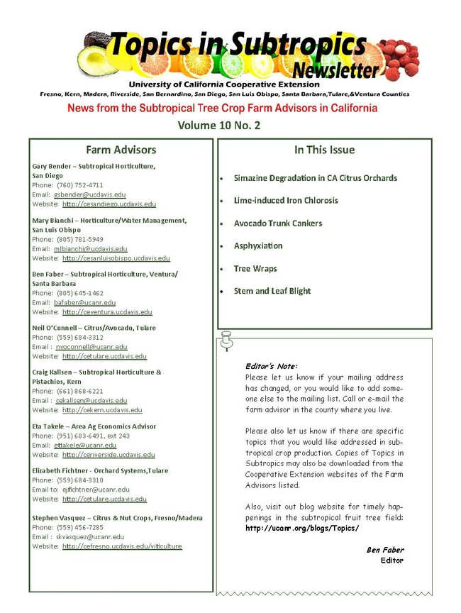 Topics in Subtropics 9-12