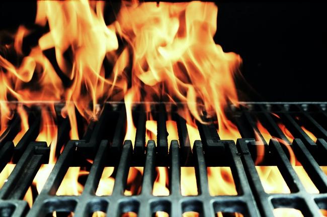 grill firing up