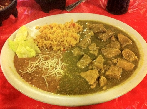 That's some good chile verde!