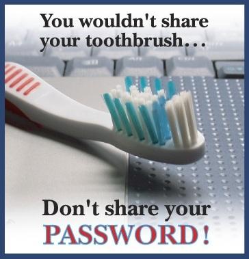 password toothbrush