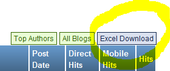 Example showing the 'Download to Excel' link.