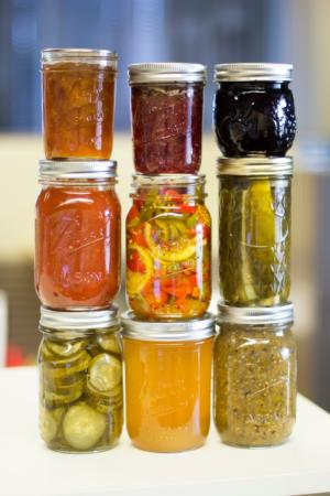 stacked jars, vertical