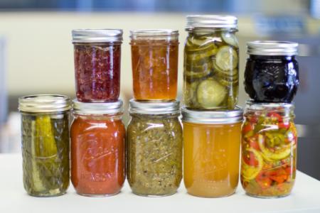 stacked jars, horizontal