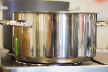 Pot on stove top burner
