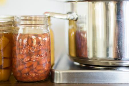 Pressure canned beans and pot