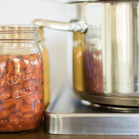 Pressure canned beans and pot 2