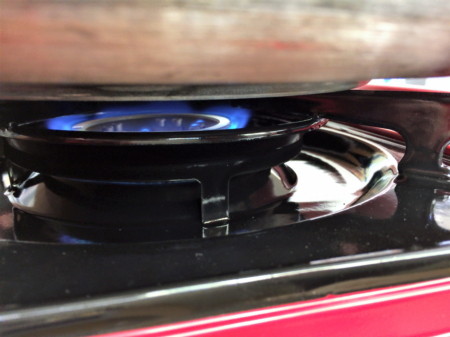 Sterno Stove flame level needed for Pressure Canning