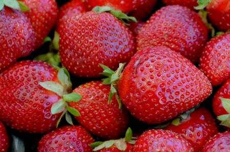 Close-up of ripe strawberries