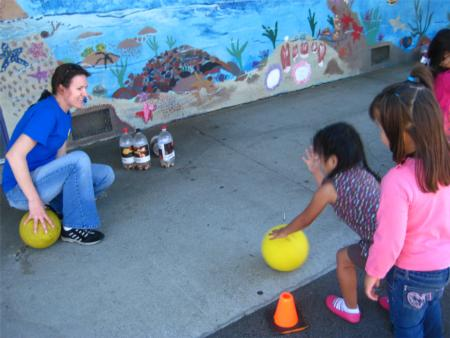 Children playing, Nutrition Fair