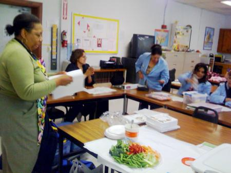 Food Demo, Adult Nutrition Class