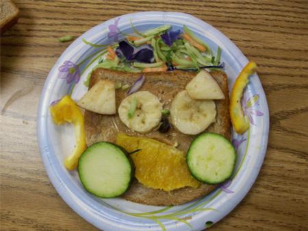Fruit and Veggie Sandwich!