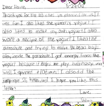 Child's Thank You Letter