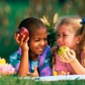 Kids Eating Apples