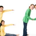 Read spelled out by children and body movement