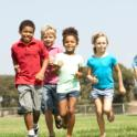 Group of Children Running