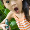 Child Finds a Worm in the Garden