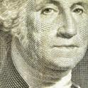 Portrait of George Washington on Dollar Bill