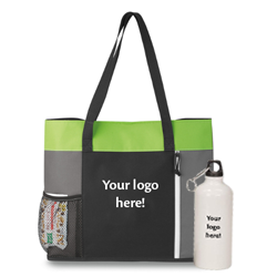 Convention tote and water bottle