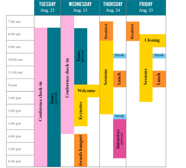 Confernce. schedule at a glance