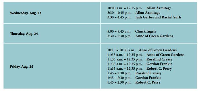Book Signing Schedule
