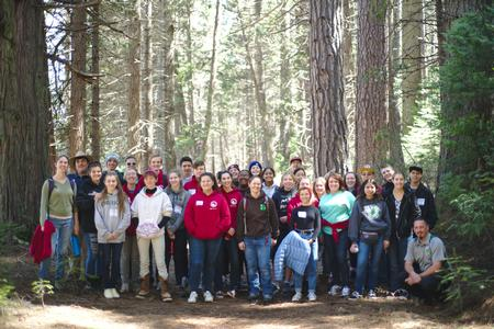 The Youth Summit planning teams at their spring retreat in Yosemite.