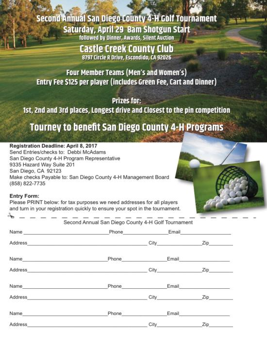 Second Annual San Diego County 4-H Golf Tournament[1]