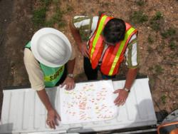 workers making a plan