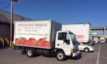 Trucks at the San Francisco Wholesale Produce Market