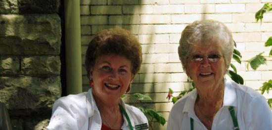 Longtime member Audrey Mulerath and charter member Loretta Silacci