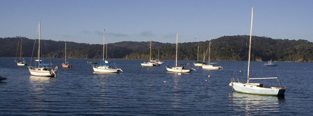 Tomales Bay boats