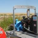Irrigation pump with diesel engine