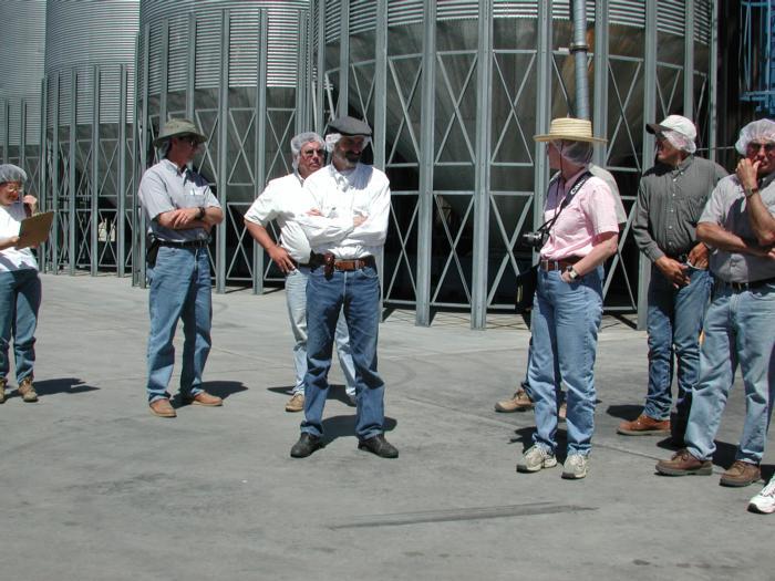 Farm advisor Tour Crain walnut shelling plant June 2002