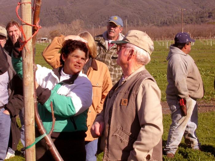 Rachel Elkins and Alex Suchan Lake County pruning meeting Jan 29 2005