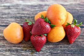 strawberries & apricots