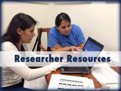 Researcher Resources Button