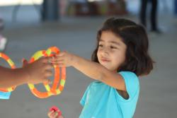 Playing ring toss (NSFS repository)