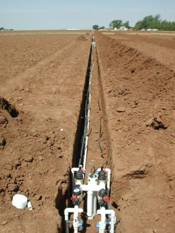 Installing subsurface drip lines can help limit N<sub>2</sub>O emissions <small>(license under CC A-ND-NC 2.0)</small>