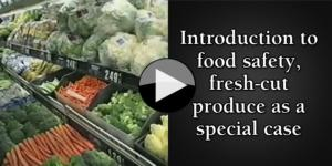 Introduction to food safety, fresh-cut produce as a special case