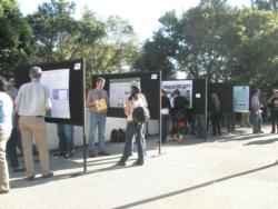 Participants enjoyed an informative poster reception in the warm evening.