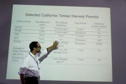 Fred Euphrat presenting a talk about the Sonoma County Forest Working Group © Jodi Frediani
