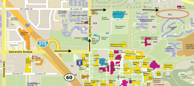 Ucr Parking Map Map & directions   Advanced IPM Training for UC MGs  Riverside Ucr Parking Map
