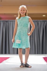 4-H member modeling her Fashion Revue entry