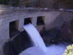 Pulsed flow release from Camino Dam, Silver Creek, CA. Sept. 15, 2005. Photo by Lisa Thompson.
