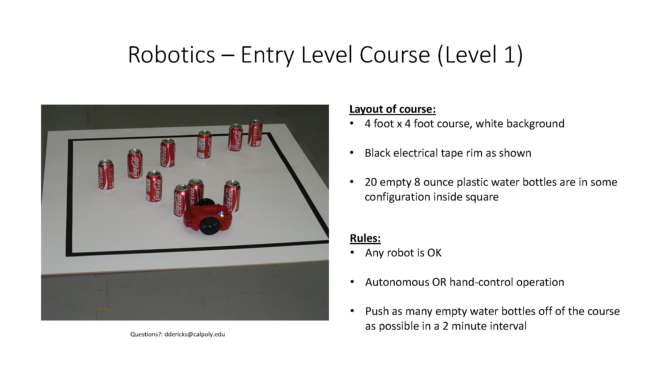 Robotic Challenge Course 1