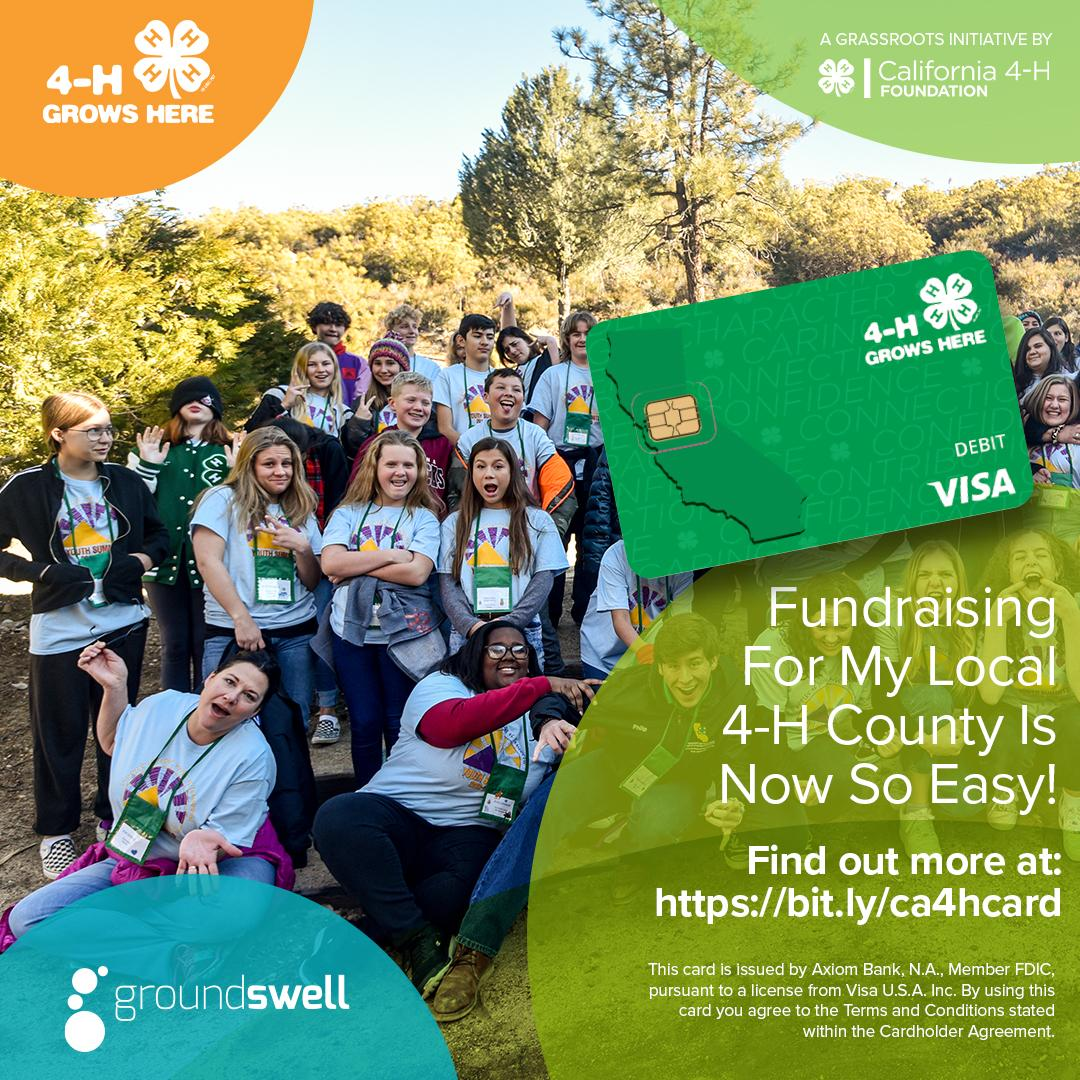 Fundraising for my local county is easy-Groundswell 4-H card